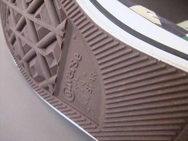 converse スニーカー allstar コラボ 1点もの CONVERSE ALL STAR 83SUEDE HI 1B146 x Revolla 100周年記念モデル (カモフラ)