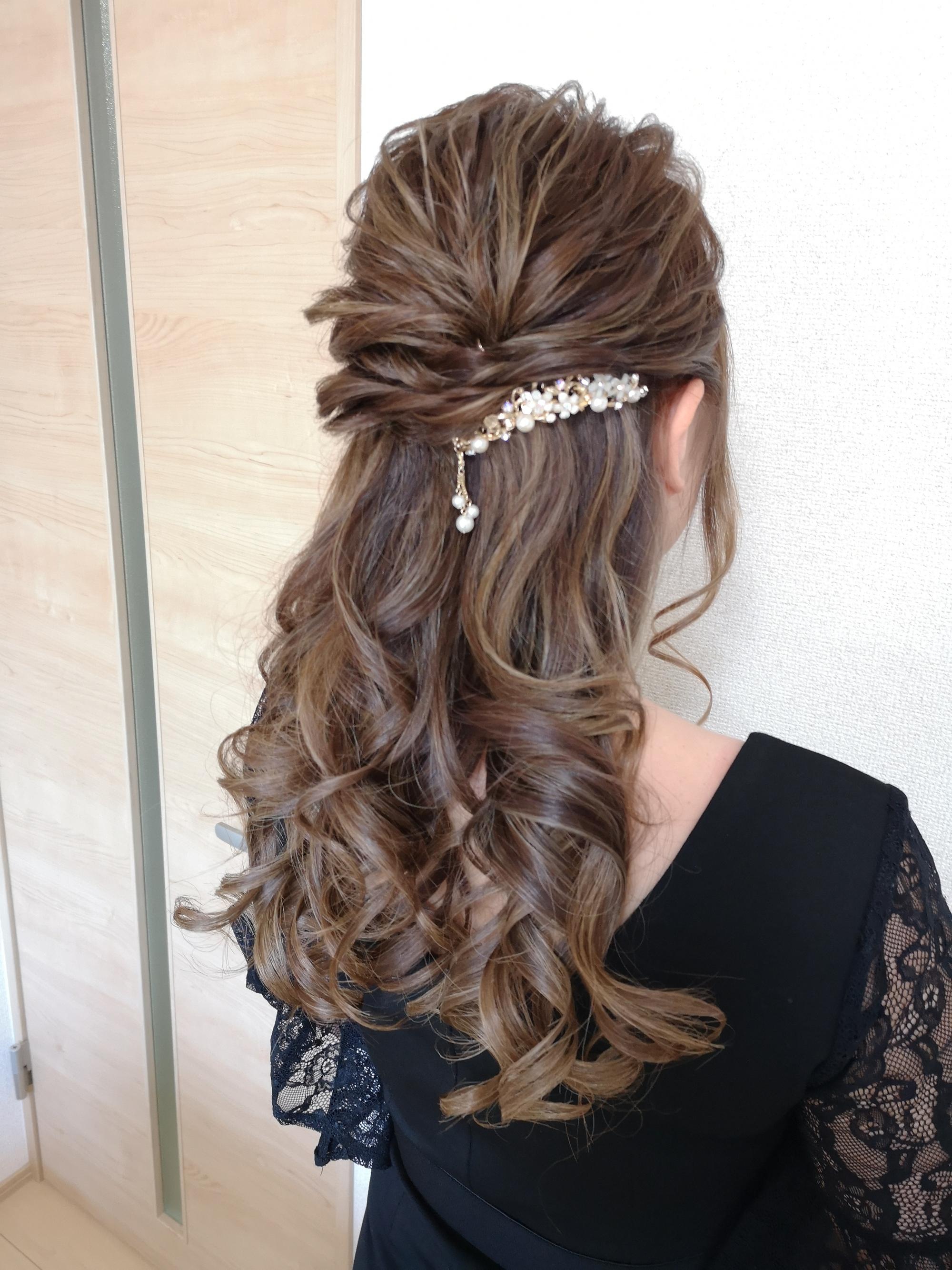 結婚式ヘアセット ハーフ\u2026 l HAIR SET YUKI