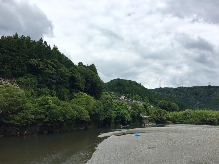 気田川 春野町 アウトドア 川遊び 天竜川