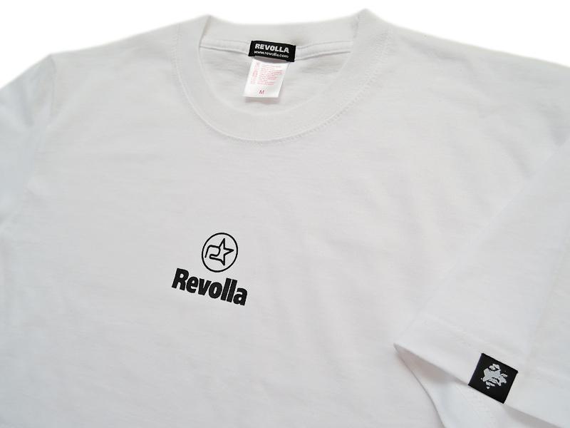 REVOLLA 【3,000円】 父の日おすすめ!限定 REVOLLA ワンポイント シンプル しっかり素材 Tシャツ(ブラック/ネイビー/ホワイト) size:S/M/L/XL