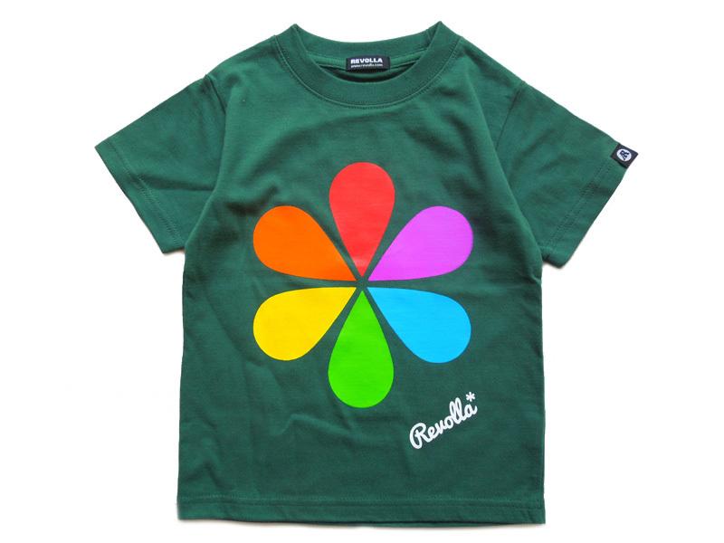 REVOLLA お名前入りキッズTシャツ ポップ カラフル 男の子 ロゴ