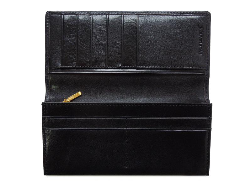 REVOLLA コインパース,コインケースイタリーレザー ツートーンカラー ロングウォレット(ブラウン) Italy Leather