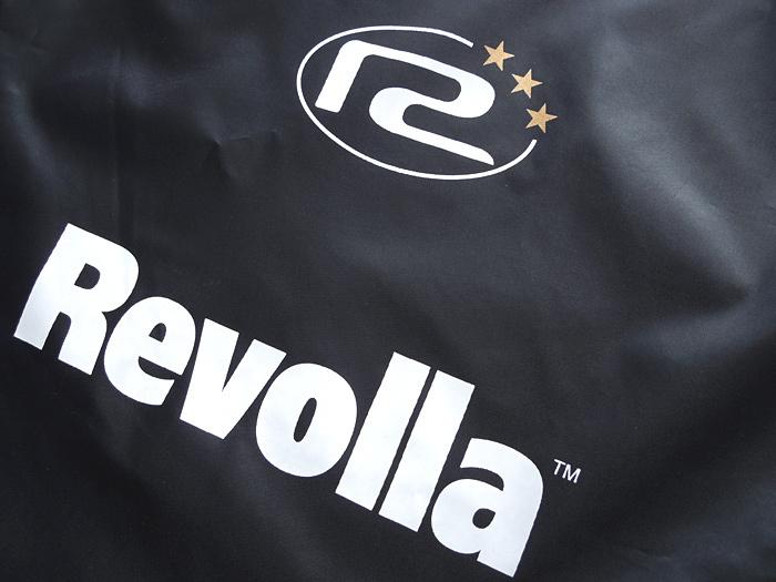 REVOLLA スポーツや旅行、銭湯に、あると便利な軽量ランドリーバッグ(ブラック)