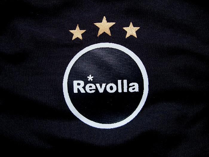 REVOLLA メンズ エンブレムロゴ 中綿ダウンジャケット(ブラック) size:【S/M/L/XL】