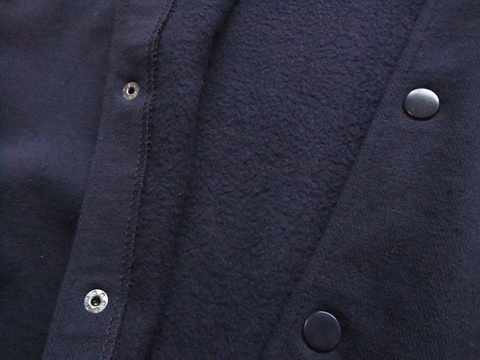 メンズ ヘヴィーウェイト スウェットラインリブスタジャン (ネイビー×ホワイト) size:S〜XL