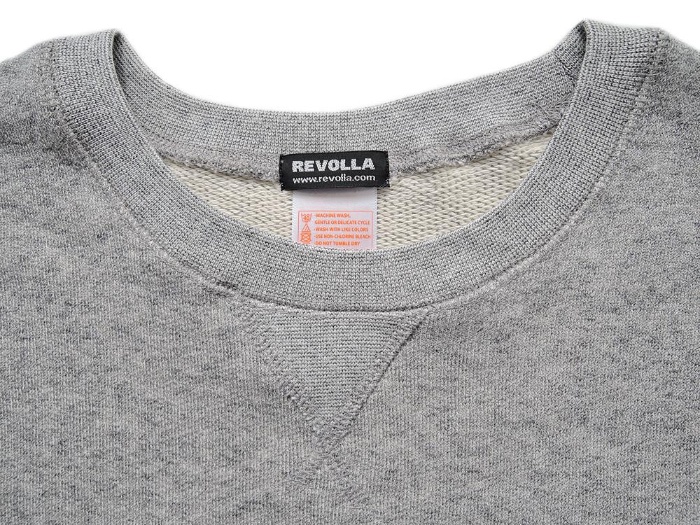 REVOLLA レボスタフェルトワッペン★オールシーズン使えるフレンチテリー半袖スウェット(3色)size:【S/M/L/XL】