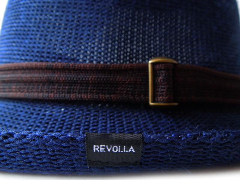 REVOLLA軽くて優しい風合いのメッシュ編み中折れハッ