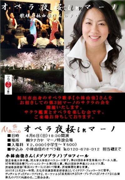 オペラ夜桜inマーノ