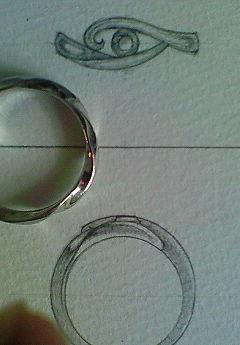 クレオパトラのリングにデザインが決定しました!