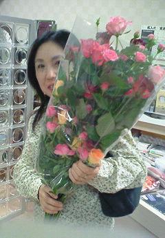 薔薇を頂きました!
