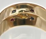 ピンクゴールドとプラチナの美しいリング