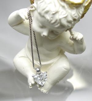 ハートシャイプのダイヤペンダント